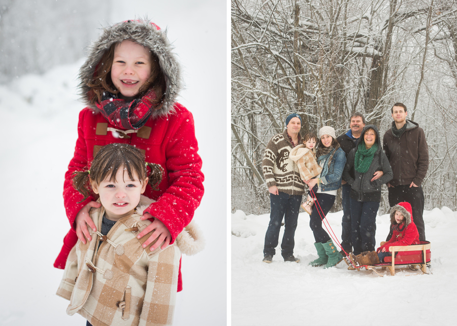 Family Photos in the Snow 16